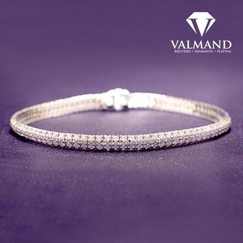 Gold tennis bracelet with Diamonds 4.65ct model br705