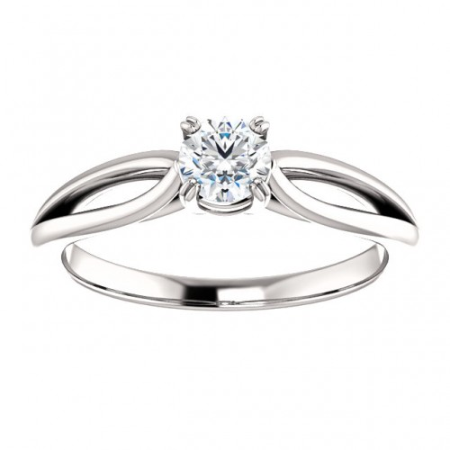 Platinum engagement ring with Diamond Incolor p71627