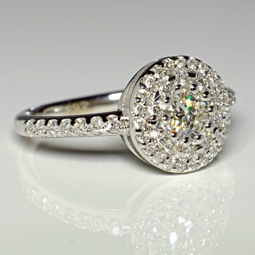 Gold or Platinum engagement and anniversary ring with Diamonds i550DiDi