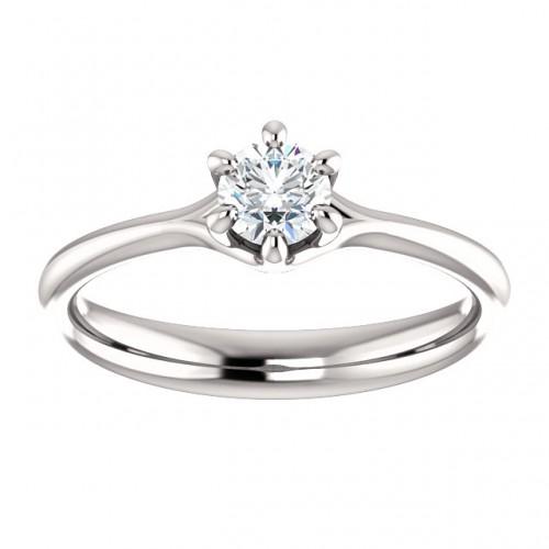 Platinum engagement ring with Diamond p122118