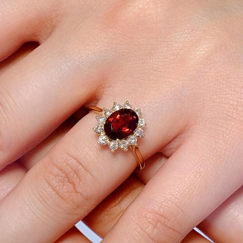 Gold ring with Madeira Citrine and Diamonds 055CimDi