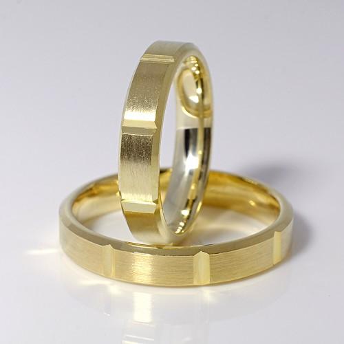 Gold wedding bands v001