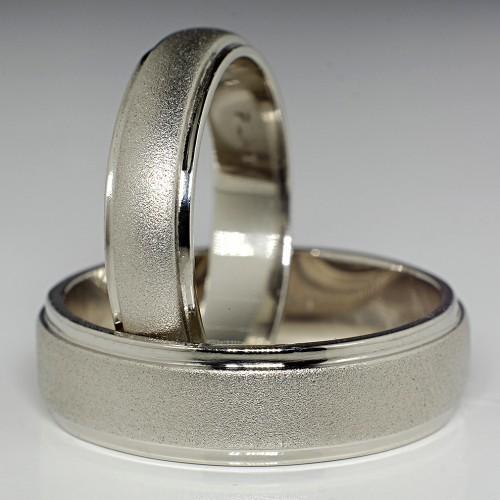 Gold or Platinum wedding bands v132